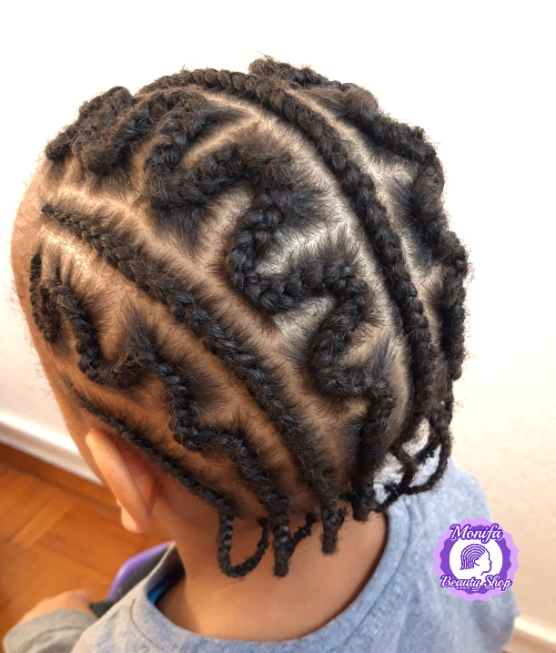 Monifa Beauty Shop-Home-Cornrows-Zig Zag Muster-schwarz-Kundenfoto-8v.8