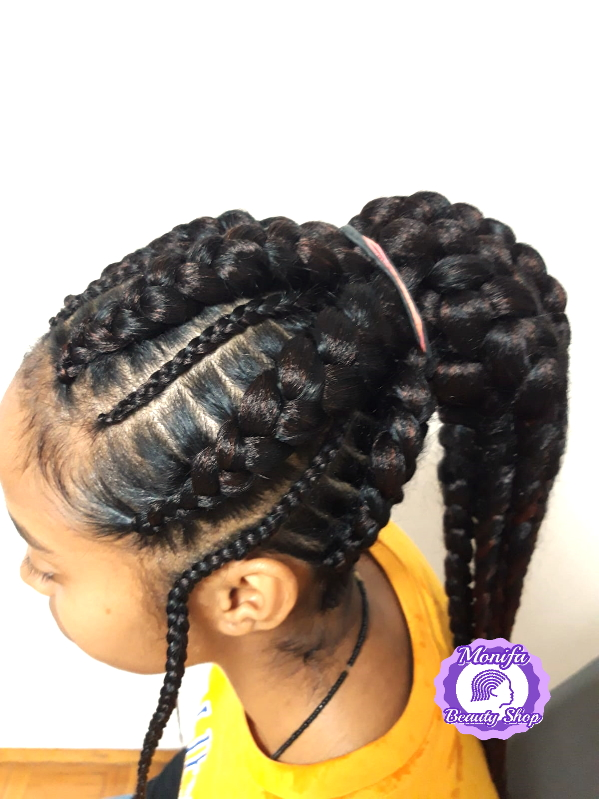 Monifa Beauty Shop-Home-Cornrows-schwarz-Kundenfoto-1v.8