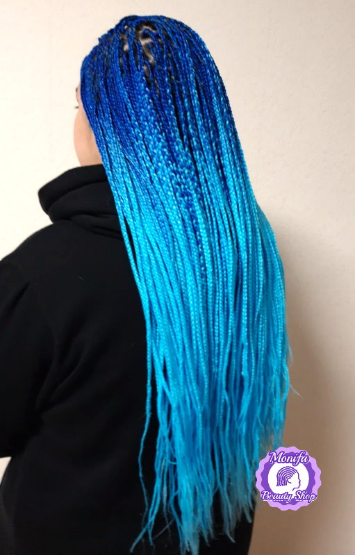 Monifa Beauty Shop-Home-Rastazöpfe-Long Braids-Blau-Hellblau-Kundenfoto-8v10