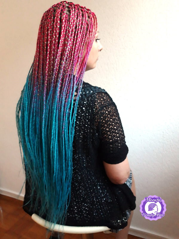 Monifa Beauty Shop-Home-Rastazöpfe-Long Braids-Rot-Blau-Kundenfoto 2v4